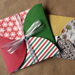 Paper Gift Envelope Made with Scrapbook Paper Circles
