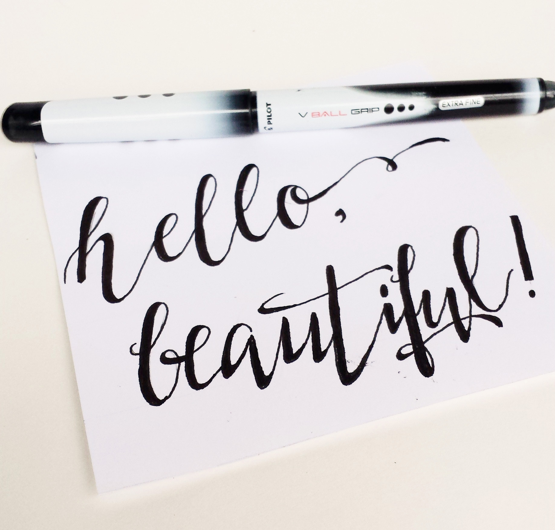 How to do fake calligraphy for Calligraphy pen letters
