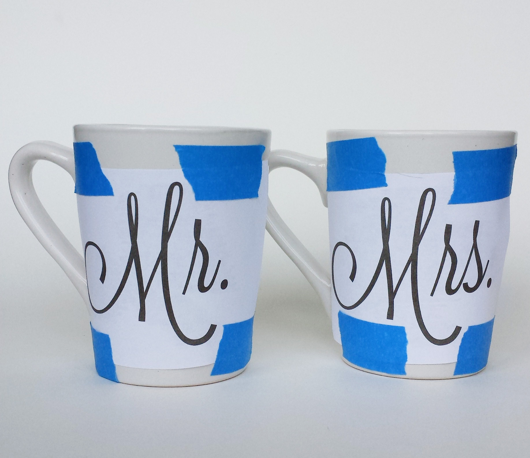 design taped on mugs - Coffee Mug Design Ideas