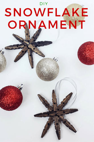 How to Make DIY Snowflake Ornaments Using Clothespins and Hot Glue