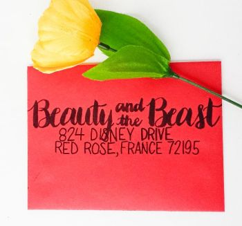7 Ways to Address an Envelope -- Use Brush Lettering and Contrasting Fonts -- Destination Decoration