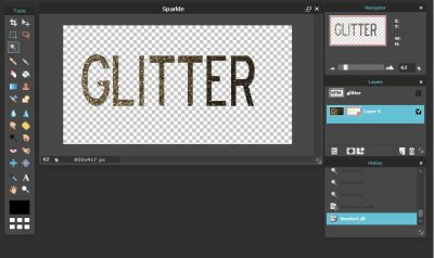 Make Your Text Glittery or With a Gold Leaf Texture