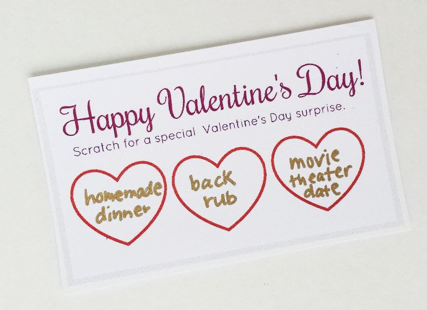 Scratch Off Cards Make Your Own – Scratch off Valentine Card