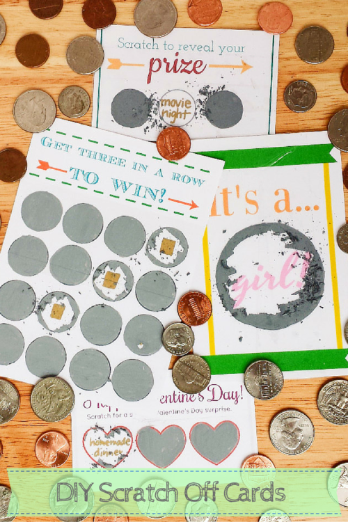 how to make scratch off cards using paint dish soap and packing tape