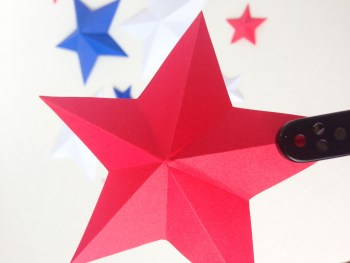 How to Make a 4th of July 3-D Star Garland | Use Paper and Yarn to Make a Festive and Patriotic Decoration for the 4th of July, Memorial Day, or Veteran's Day | Destination Decoration