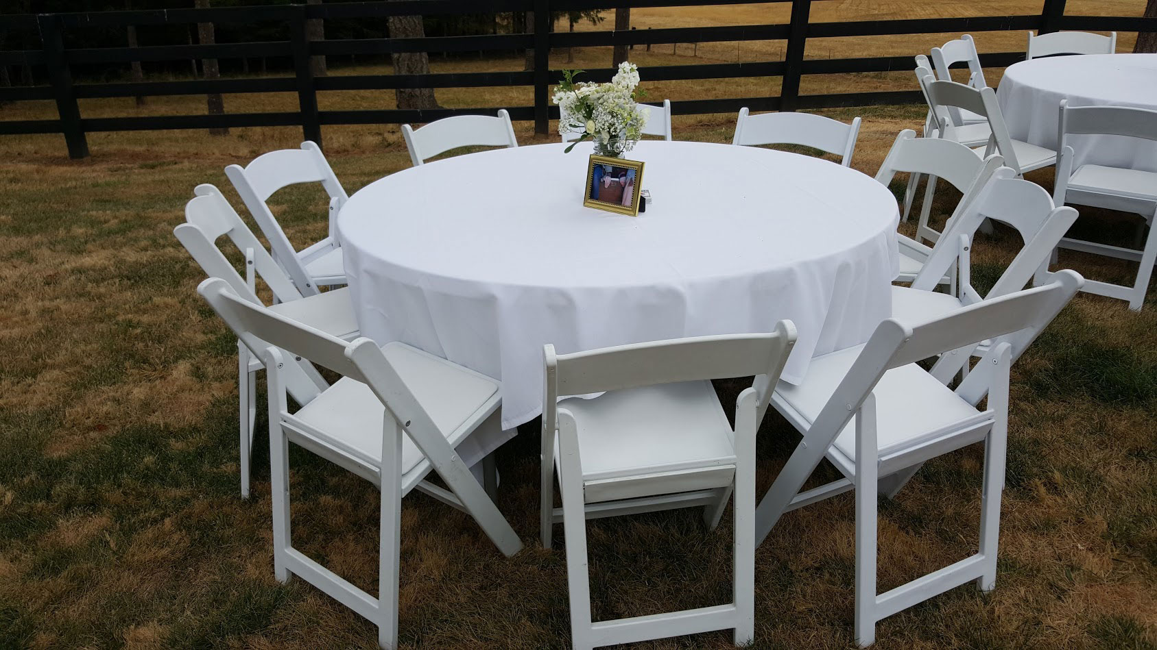 Destination Events White Resin Folding Chairs