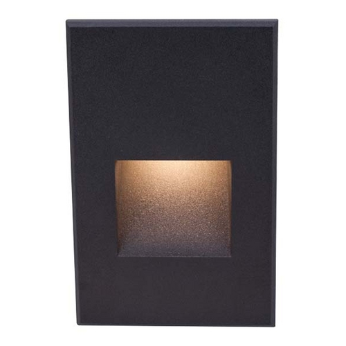 WAC Lighting Black LED Recessed Step Light  WLLED200C