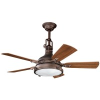 Kichler Ceiling Fan with Light Kit in Weathered Copper ...