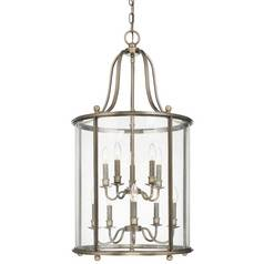 Bronze Cage Chandelier With 10 Lights