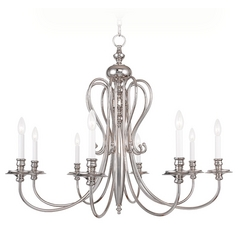 Livex Lighting Caldwell Polished Nickel Chandelier