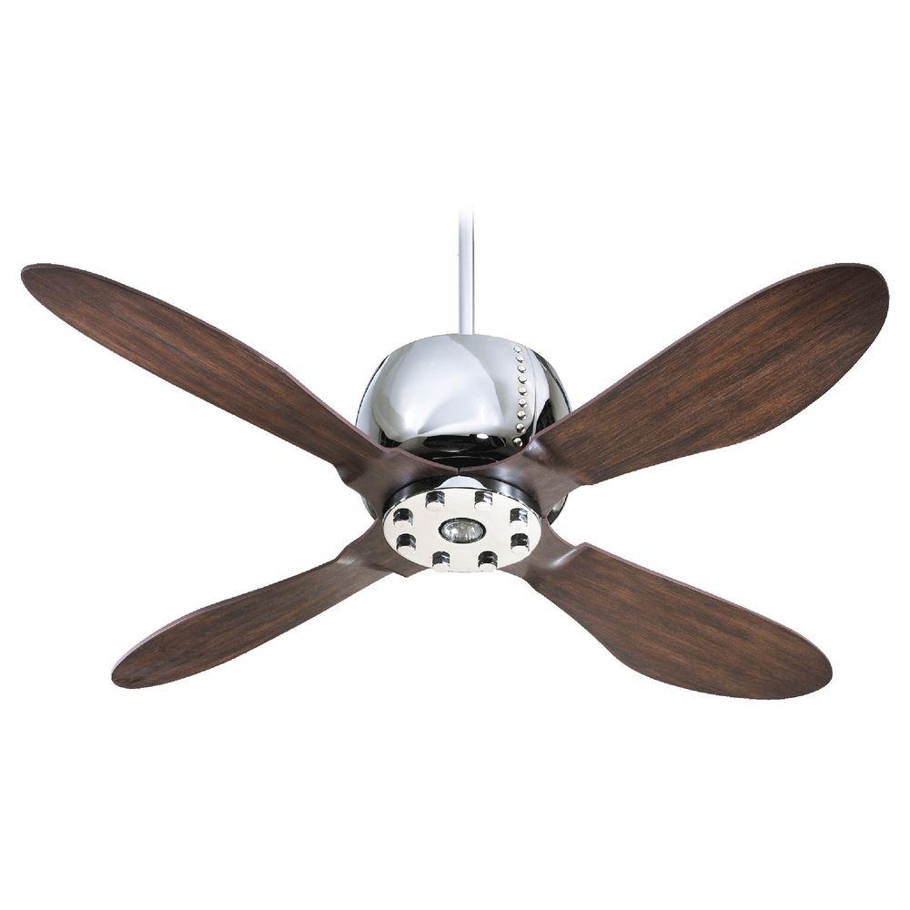 Quorum Lighting Elica Chrome Ceiling Fan with Light  3652414  Destination Lighting