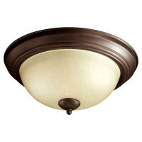 Quorum Lighting Oiled Bronze Flushmount Light | 3073-13-86 ...
