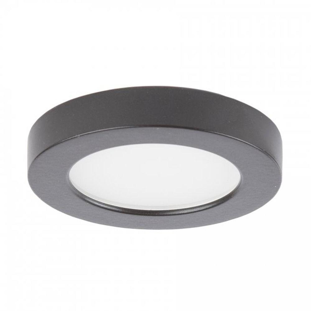 wac lighting edge lit button light brushed nickel 3 inch led under cabinet puck light at destination lighting