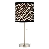 Pull-Chain Table Lamp with Zebra Drum Shade | 1900-09 ...