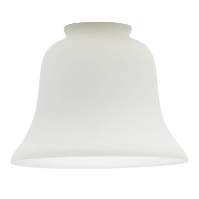 Design Classics Lighting Satin White Bell Glass Shade 2 1 4 Inch