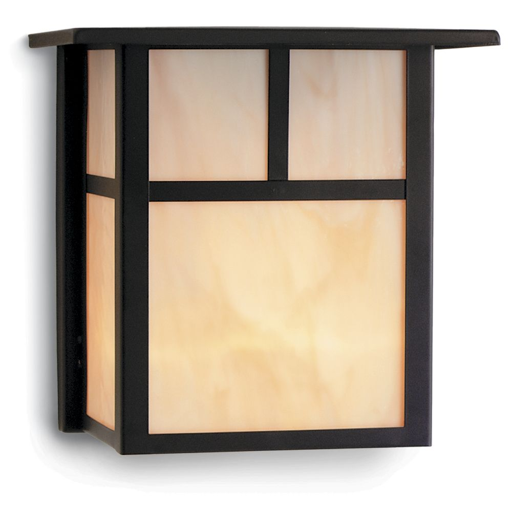 craftsman style outdoor wall light in bronze 8 inches tall at destination lighting