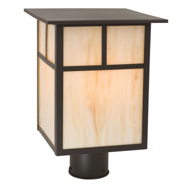 Craftsman Style Outdoor Post Light 13-inches Tall 397 Bz