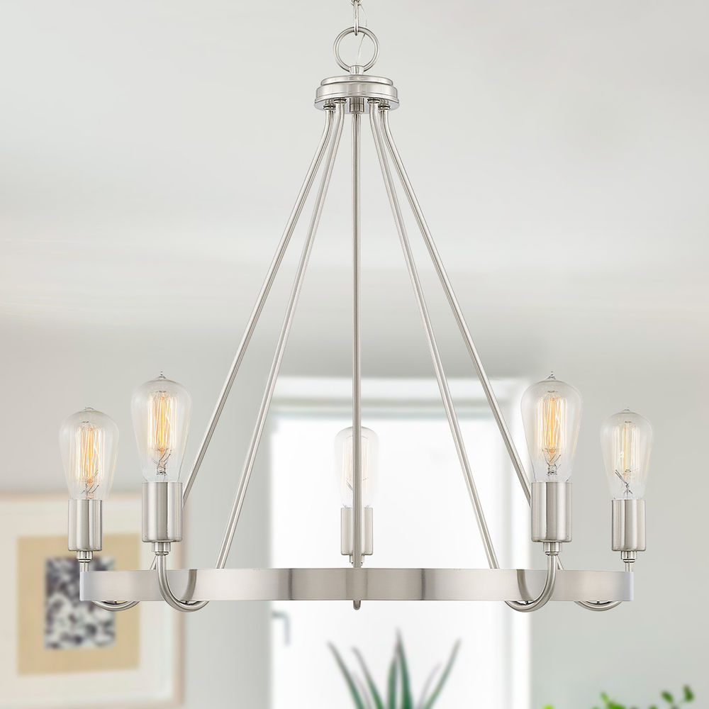 homeplace by capital lighting tanner brushed nickel chandelier at destination lighting
