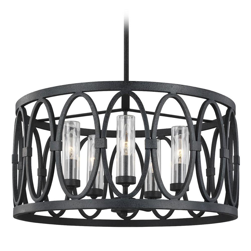 feiss lighting patrice dark weathered zinc outdoor chandelier at destination lighting