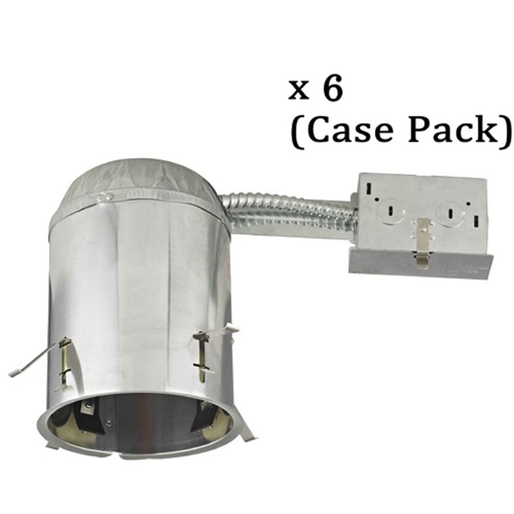 5 inch remodel e26 recessed can light ic airtight flat ceiling case pack of 6 at destination lighting