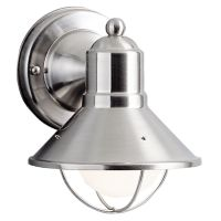 Kichler Nautical Outdoor Wall Light in Brushed Nickel ...