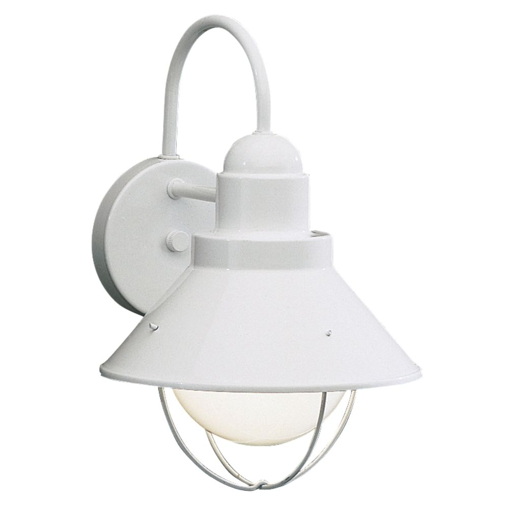 kichler outdoor wall light in white finish at destination lighting