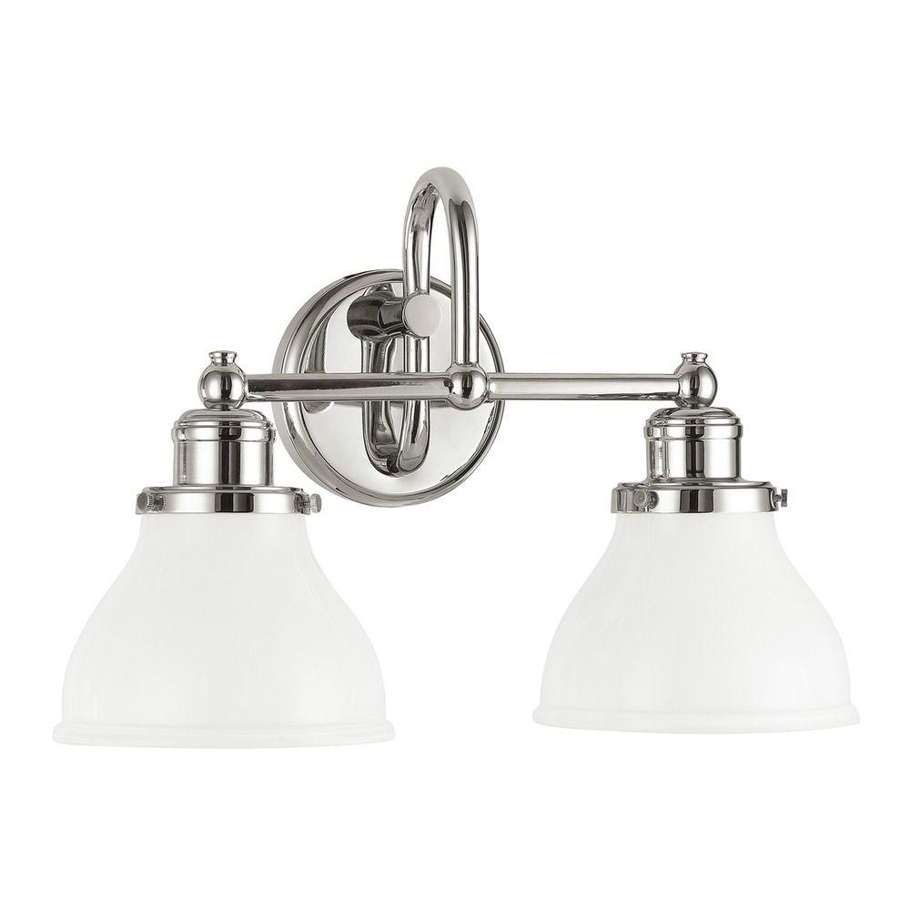 Capital Lighting Baxter Polished Nickel Bathroom Light