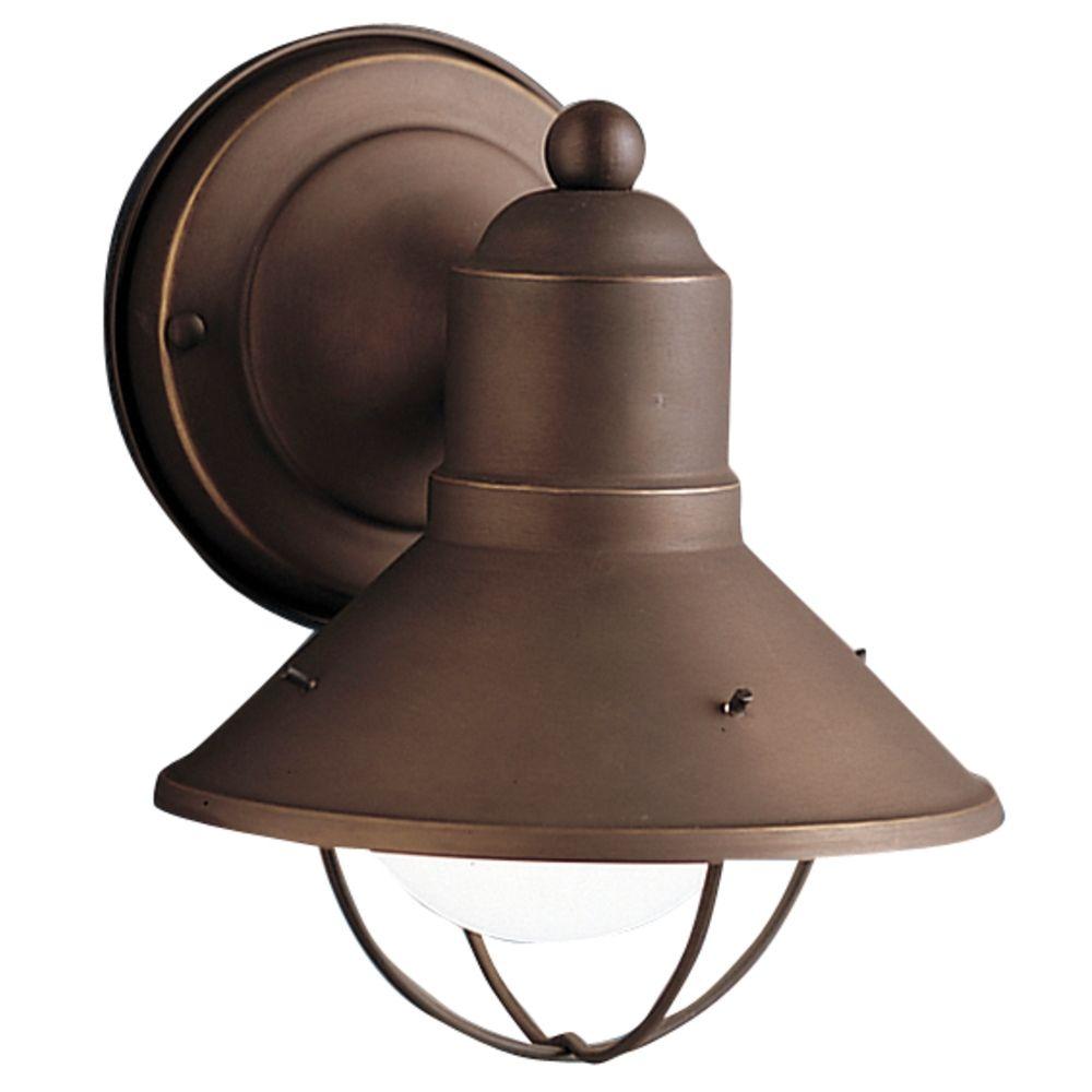 kichler nautical outdoor wall light in bronze finish at destination lighting
