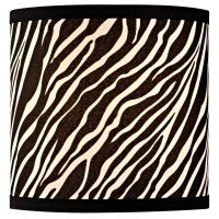 Zebra Drum Lamp Shade with Uno Assembly | SH9483 ...