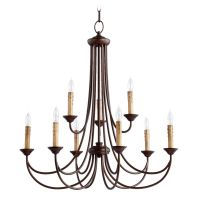 Quorum Lighting Brooks Oiled Bronze Chandelier | 6250-9-86 ...