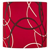 Red Drum Lamp Shade with Uno Assembly | SH9516 ...