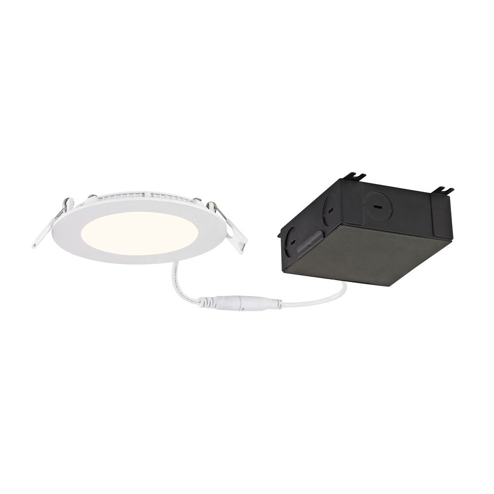 4 inch shallow canless led recessed light 2700k 650lm ic and airtight at destination lighting