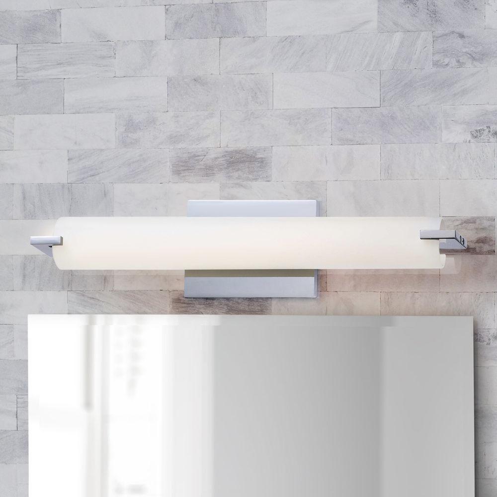 tube chrome led bathroom light vertical or horizontal mounting at destination lighting