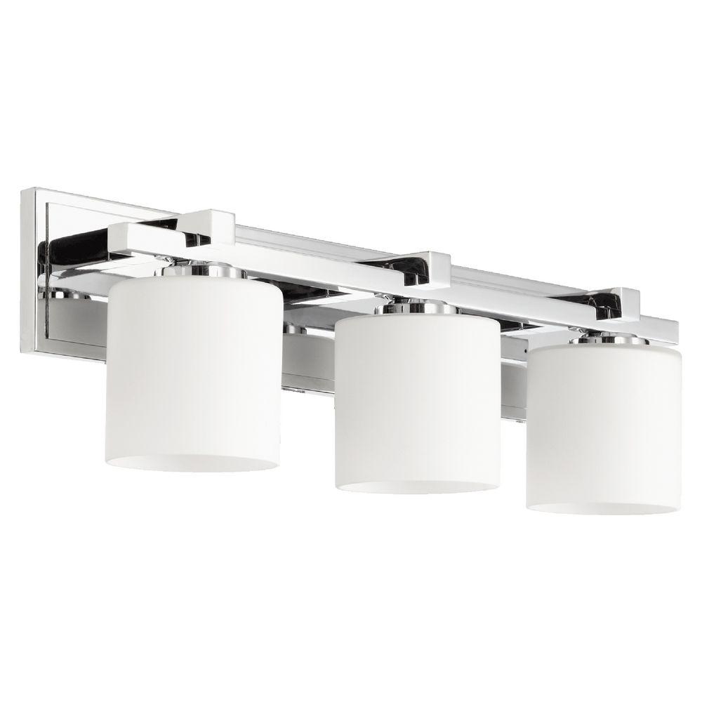 chrome bathroom lighting image of