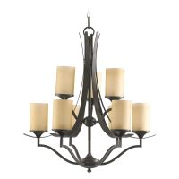 Quorum Lighting Atwood Oiled Bronze Chandelier | 6096-9-86 ...