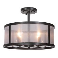 Craftmade Danbury Matte Black Semi-Flushmount Light ...