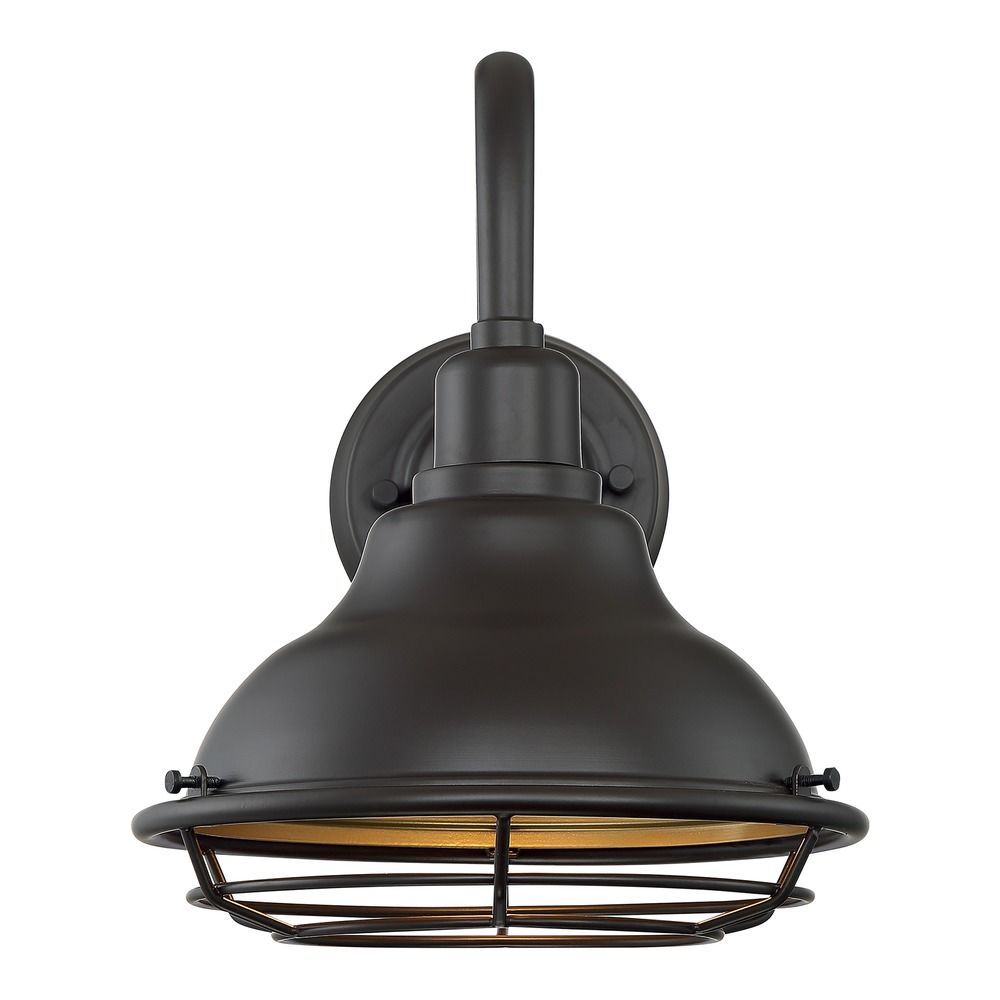 https www destinationlighting com item satco lighting newbridge dark bronze gold barn light p2274728