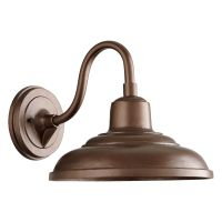 Farmhouse Outdoor Wall Light Oiled Bronze by Quorum ...