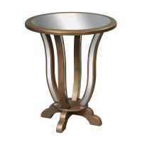 Sterling Lighting Mirrored Glass Coffee & End Table ...