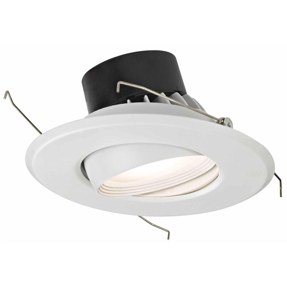 led adjustable eyeball retrofit trim for 5 or 6 inch recessed cans 3000k 1100 lumens at destination lighting