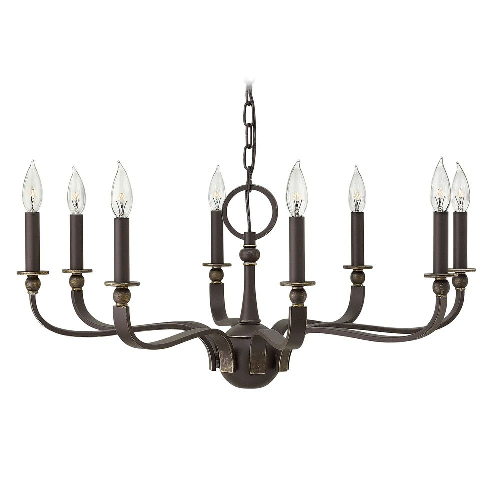 Hinkley Rutherford 8-Light Chandelier in Oil Rubbed Bronze