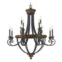 Savoy House Lighting Wickham Whiskey Wood Chandelier   1 ...