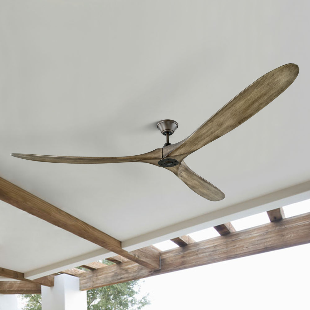 monte carlo maverick super max aged pewter ceiling fan without light at destination lighting