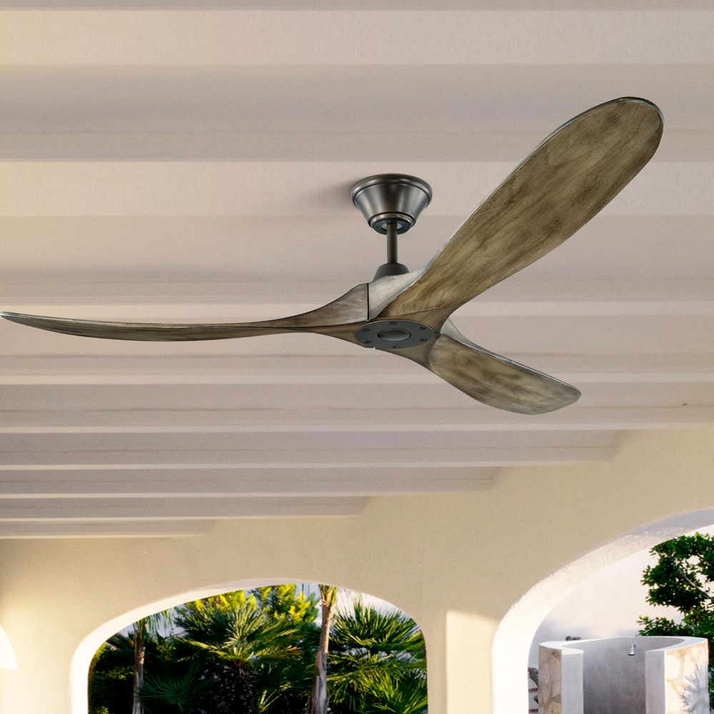 monte carlo maverick aged pewter ceiling fan without light at destination lighting
