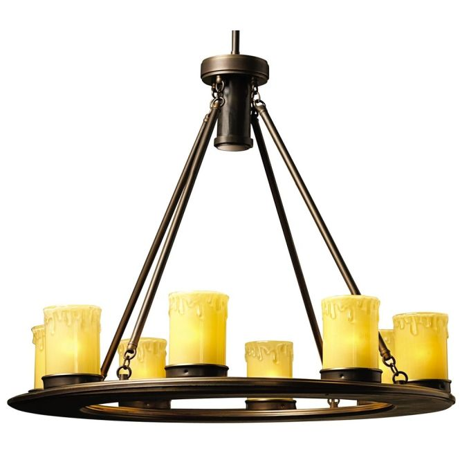 Kichler Lighting Low Voltage Outdoor Chandelier 15402oz Shown In Olde Bronze Finish Product Image