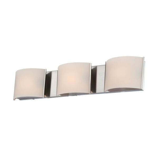Satin Nickel Bathroom Light