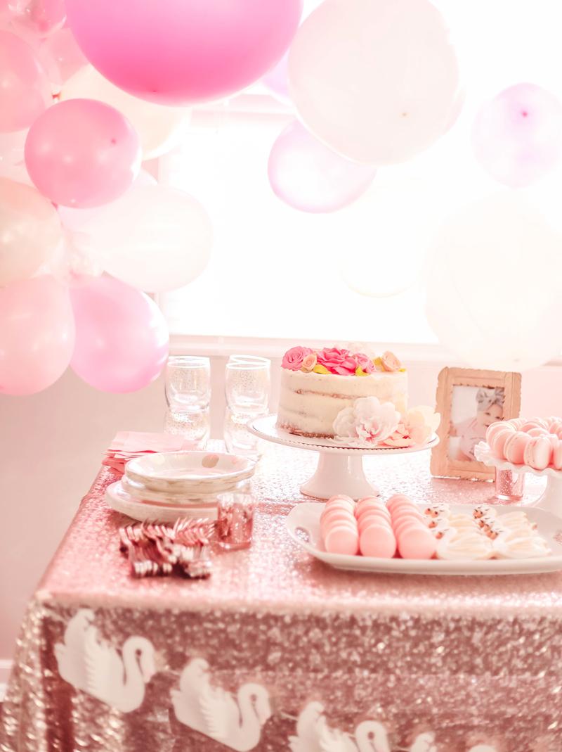 Swan Princess Inspired First Birthday Party Destination