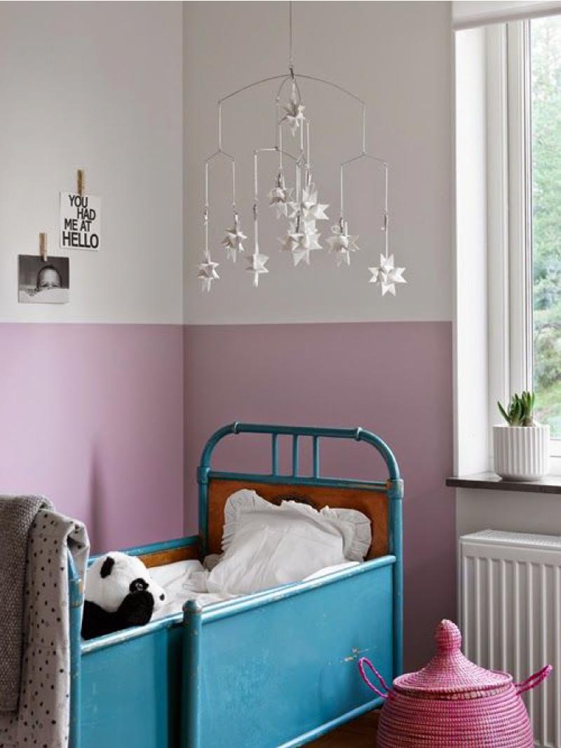 On Trend Color block walls  Destination Nursery