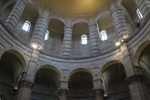 Interior of Baptistery of St John in Pisa