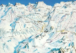 Lech Piste Map